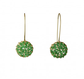 Pendulum aventurine earrings in 14k/20 gold filled