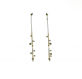 Supernova pyrite symmetrical earrings in 14k/20 gold filled  and sterling silver