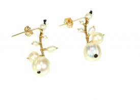 white culture pearls 14k/20 gold filled medium earrings
