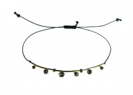 Supernova pyrite drops bracelet in 14k/20 gold filled