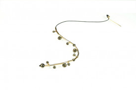 Supernova pyrite solo earring in 14k/20 gold filled and sterling silver