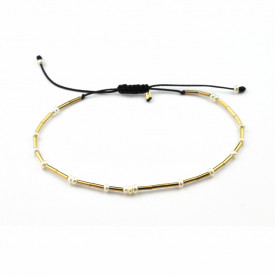 14k/20 gold filled white culture pearl friendship bracelet