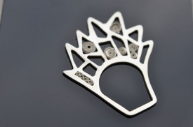 Vegetalia Mirabilia / ananas comosus oxidized sterling silver ring