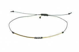 14k/20 gold filled five spinel beads bracelet