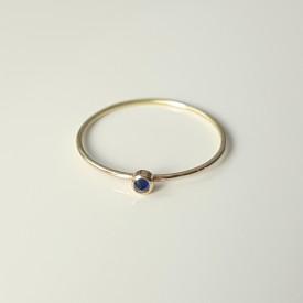 inel Essence of Blue din aur 18k cu safir albastru inversat