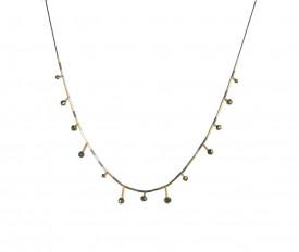 Colier in design minimalist, realizat manual din argint, gold filled de 14k/20 si pirite, Corina Mardari, moonsun project