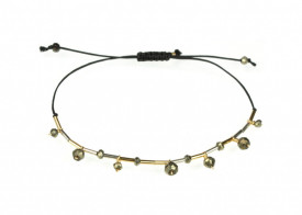 Supernova pyrite drops bracelet in 14k/20 gold filled and sterling silver