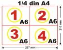 Chitantier A6, 50 set x 2ex, alb-negru, personalizat