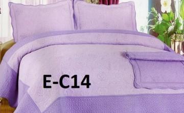Poze Cuvertura de pat si 2 fete perna din bumbac brodat - EC14