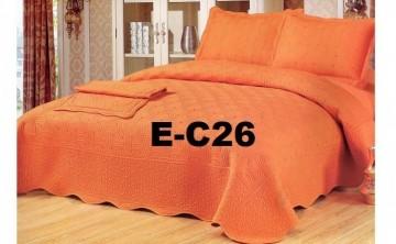 Poze Cuvertura de pat si 2 fete perna din bumbac brodat - EC26
