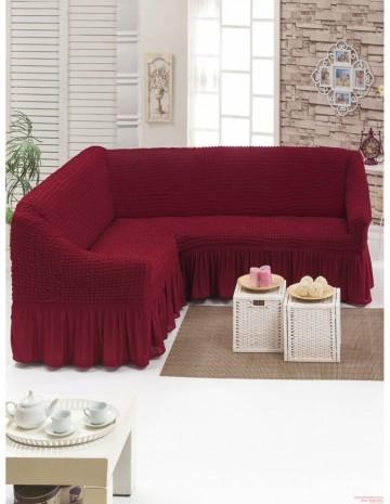 Poze Husa pentru canapea tip Coltar culoare Bordo