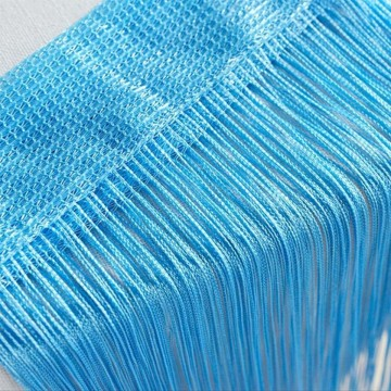 Perdea franjurata, deasa, tip ate, dimensiuni 3 x 3 metri - Bleu
