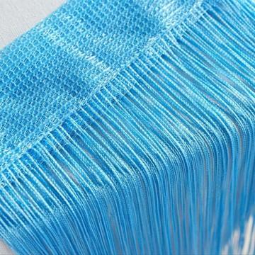 Poze Perdea franjurata tip ate dimensiuni 3 x 3 metri - Bleu