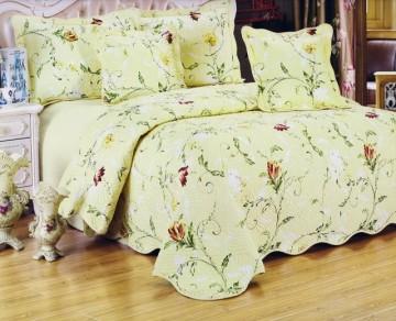 Poze Cuvertura de pat din bumbac brodat + fete perna ES12