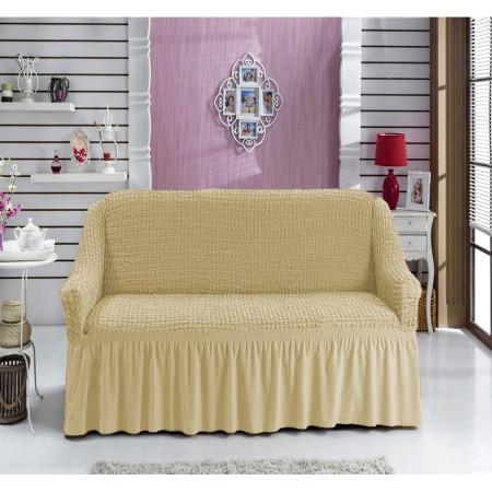 Husa pentru canapea de 2 locuri Bej Natur