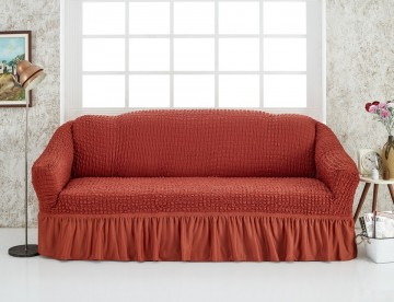 Husa pentru canapea de 2 locuri Caramiziu