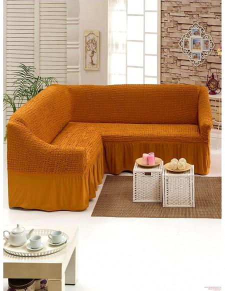 Poze Husa pentru canapea tip Coltar culoare Mustar Inchis