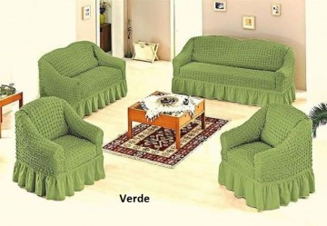 Poze Set huse canapea 3 Locuri 2 Locuri si doua fotolii - 3.2.1.1. Verde