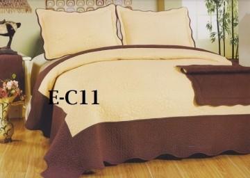 Poze Cuvertura de pat si 2 fete perna din bumbac brodat - EC11