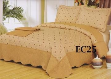 Poze Cuvertura de pat si 2 fete perna din bumbac brodat - EC25