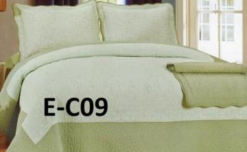 Poze Cuvertura de pat si 2 fete perna din bumbac brodat - EC09