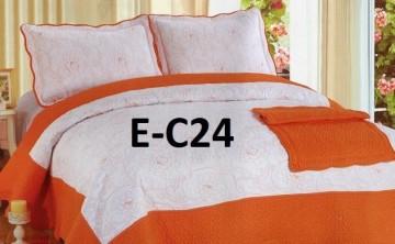 Poze Cuvertura de pat si 2 fete perna din bumbac brodat - EC24