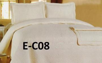 Poze Cuvertura de pat si 2 fete perna din bumbac brodat - EC08