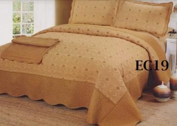 Poze Cuvertura de pat si 2 fete perna din bumbac brodat - EC19