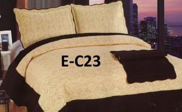 Poze Cuvertura de pat si 2 fete perna din bumbac brodat - EC23