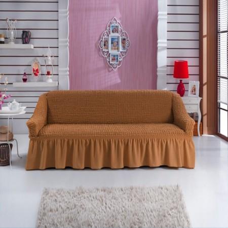 Husa pentru canapea de 2 locuri Mustar Inchis