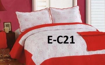 Poze Cuvertura de pat si 2 fete perna din bumbac brodat - EC21