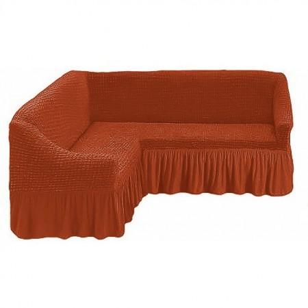 Poze Husa pentru canapea tip Coltar culoare Caramiziu