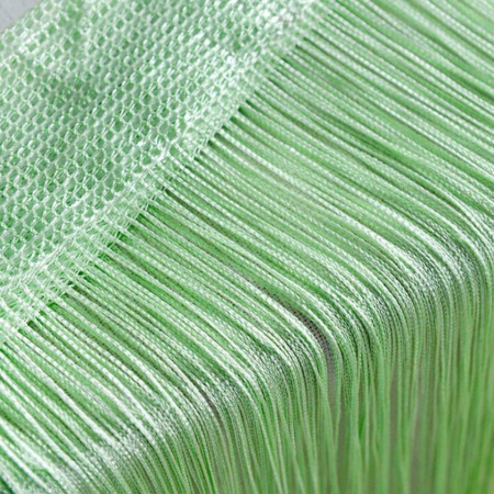 Perdea franjurata, deasa, tip ate, dimensiuni 3 x 3 metri - Verde Deschis