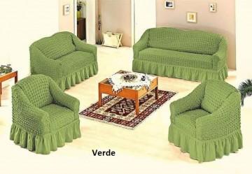 Set huse canapea 3 Locuri 2 Locuri si 1 fotoliu - 3.2.1. Verde