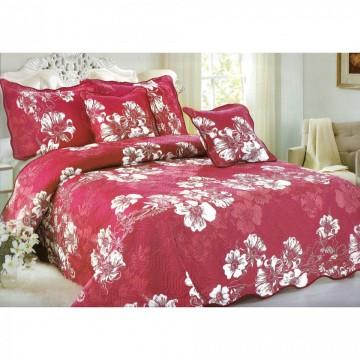 Poze Cuvertura de pat din bumbac brodat + fete perna ES16