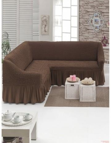 Poze Husa pentru canapea tip Coltar culoare Maro