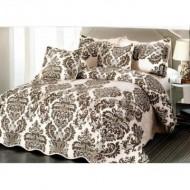 Cuvertura de pat din bumbac brodat + fete perna ES18