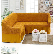 Husa pentru canapea tip Coltar culoare Mustar Deschis