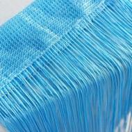Perdea franjurata tip ate dimensiuni 3 x 3 metri - Bleu