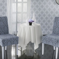 Set 6 huse Multielastice Jacquard pentru scaune, fara volanas - Gri