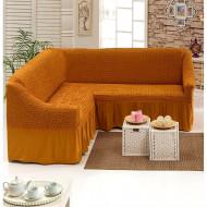 Husa pentru canapea tip Coltar culoare Mustar Inchis