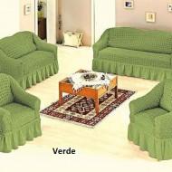Set huse canapea 3 Locuri 2 Locuri si doua fotolii - 3.2.1.1. Verde