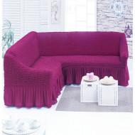 Husa pentru canapea tip Coltar culoare Siclam