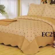 Cuvertura de pat si 2 fete perna din bumbac brodat - EC25
