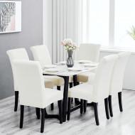 Set 6 huse elastice pentru scaune culoare Alb