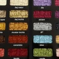 Husa elastica pentru coltar cu volanas culoare Bej Inchis