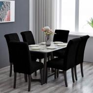 Set 6 huse elastice pentru scaune culoare Negru