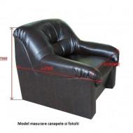 Set huse elastice pentru canapea 3 locuri, canapea 2 locuri si 1 fotoliu fara volanas, Maro