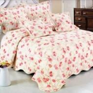 Cuvertura de pat din bumbac brodat + fete perna ES01