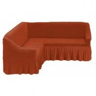 Husa pentru canapea tip Coltar culoare Caramiziu